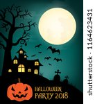 design of halloween text for... | Shutterstock .eps vector #1164623431