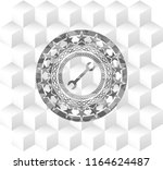 wrench icon inside grey icon or ... | Shutterstock .eps vector #1164624487