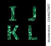 i j k l green camouflage... | Shutterstock .eps vector #1164627007