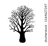 tree silhouette isolated on... | Shutterstock .eps vector #1164627247