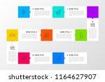 infographic design template.... | Shutterstock .eps vector #1164627907