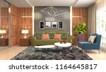 interior of the living room. 3d ... | Shutterstock . vector #1164645817