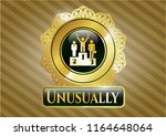 gold shiny emblem with... | Shutterstock .eps vector #1164648064