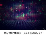 futuristic retro background of... | Shutterstock . vector #1164650797