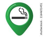smoking area marker map pin... | Shutterstock .eps vector #1164651451