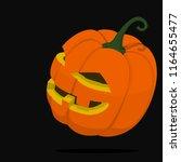 isolate jack'o lantern on...   Shutterstock .eps vector #1164655477