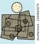 abstract grunge vector... | Shutterstock .eps vector #1164662674