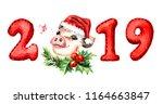 2019 happy new year banner.... | Shutterstock . vector #1164663847