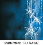 christmas backround in blue... | Shutterstock .eps vector #116466487