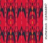 ikat seamless pattern design.... | Shutterstock . vector #1164666847