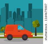 suburban cab service town design | Shutterstock .eps vector #1164675007