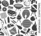 vector barbecue seamless... | Shutterstock .eps vector #1164675481