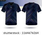 sports jersey template for team ... | Shutterstock .eps vector #1164676264