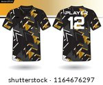 sports jersey template for team ... | Shutterstock .eps vector #1164676297