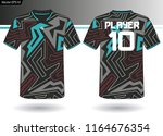 sports jersey template for team ... | Shutterstock .eps vector #1164676354