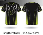 sports jersey template for team ... | Shutterstock .eps vector #1164676591