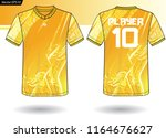 sports jersey template for team ... | Shutterstock .eps vector #1164676627