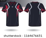 sports jersey template for team ... | Shutterstock .eps vector #1164676651
