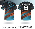 sports jersey template for team ...   Shutterstock .eps vector #1164676687