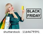 beautiful blonde woman... | Shutterstock . vector #1164679591