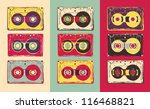set of retro audio cassettes ... | Shutterstock .eps vector #116468821