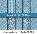 vector set of ten geometric... | Shutterstock .eps vector #1164688681
