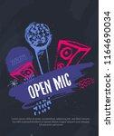 open mic night grunge... | Shutterstock .eps vector #1164690034