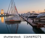 sea pier for yachts and boats... | Shutterstock . vector #1164690271