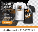 t shirt template  fully...   Shutterstock .eps vector #1164691171