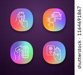 nfc technology app icons set....