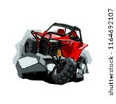 off road atv buggy  rides in...   Shutterstock .eps vector #1164692107