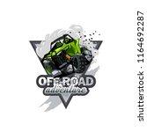 off road atv buggy logo ... | Shutterstock .eps vector #1164692287