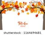 autumnal trees frame | Shutterstock .eps vector #1164694681