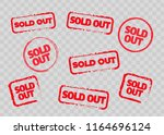 Sold Out Stamps Grunge Texture. ...