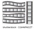 slide film frame set  film roll ... | Shutterstock .eps vector #1164696127