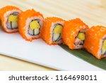 traditional fresh japanese... | Shutterstock . vector #1164698011