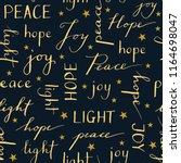 hand written christmas... | Shutterstock .eps vector #1164698047
