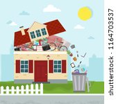 the concept of excessive... | Shutterstock .eps vector #1164703537
