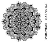 mandalas for coloring  book.... | Shutterstock .eps vector #1164707461