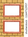 two horizontal wooden frames on ... | Shutterstock . vector #1164712957