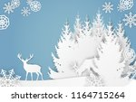 vector paper cut style... | Shutterstock .eps vector #1164715264