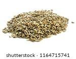 rye grains isolated on white...   Shutterstock . vector #1164715741
