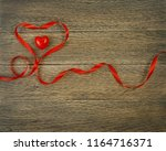 romantic valentines day red... | Shutterstock . vector #1164716371