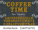 font handcrafted typeface... | Shutterstock .eps vector #1164716731