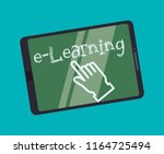 education online or elearning | Shutterstock .eps vector #1164725494