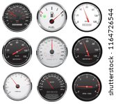 car dashboard gauges. with... | Shutterstock .eps vector #1164726544