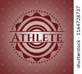 athlete badge with red...   Shutterstock .eps vector #1164728737