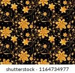 3d rendering. golden stylized...   Shutterstock . vector #1164734977