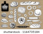 home made bakery logo  baking ... | Shutterstock .eps vector #1164735184
