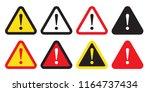 danger sign  warning sign ...   Shutterstock .eps vector #1164737434